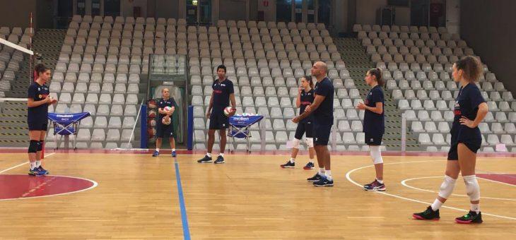 Allenamento speciale per alcune delle ragazze dell'Olimpia Teodora di Serie B2