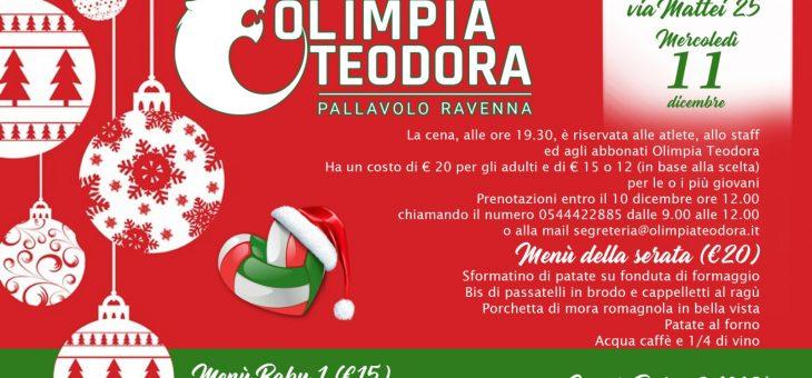 Mercoledì 11 dicembre al Grand Hotel Mattei la cena di Natale dell'Olimpia Teodora