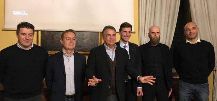 Giorgio Bottaro e Simone Bendandi protagonisti al Circolo dei Forestieri con gli allenatori di Consar, OraSì e Ravenna FC