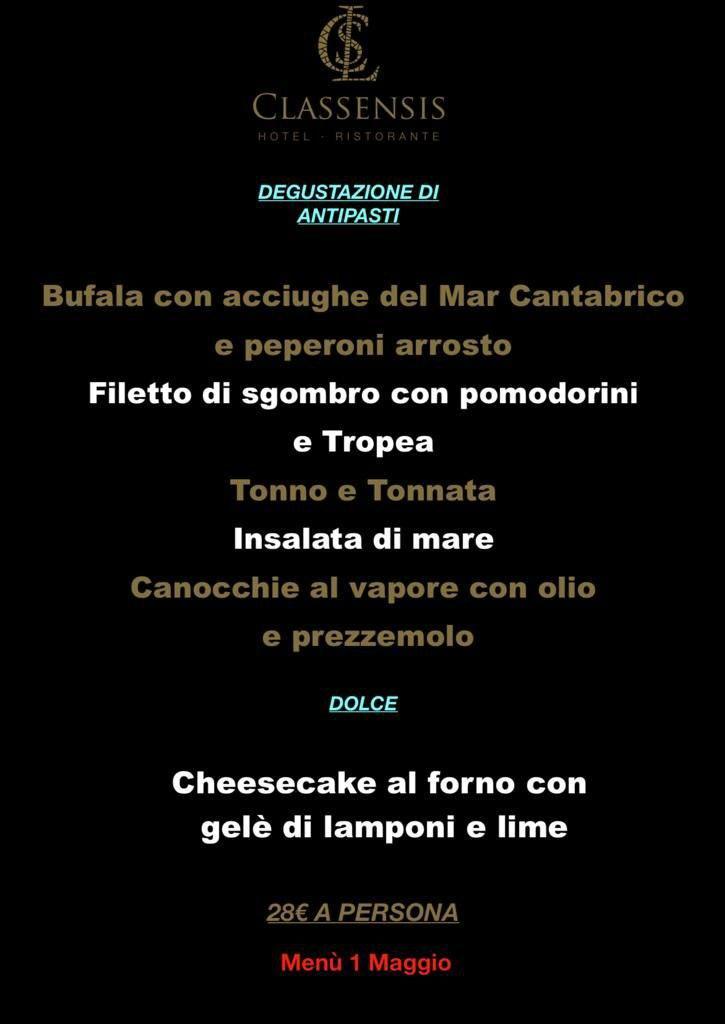 Sosteniamo chi ci sostiene: per il 1 maggio l'Hotel-Ristorante Classensis propone un pranzo con degustazioni di pesce