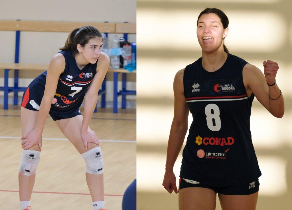 Nicole Piomboni e Valentina Vecchi in nazionale giovanile