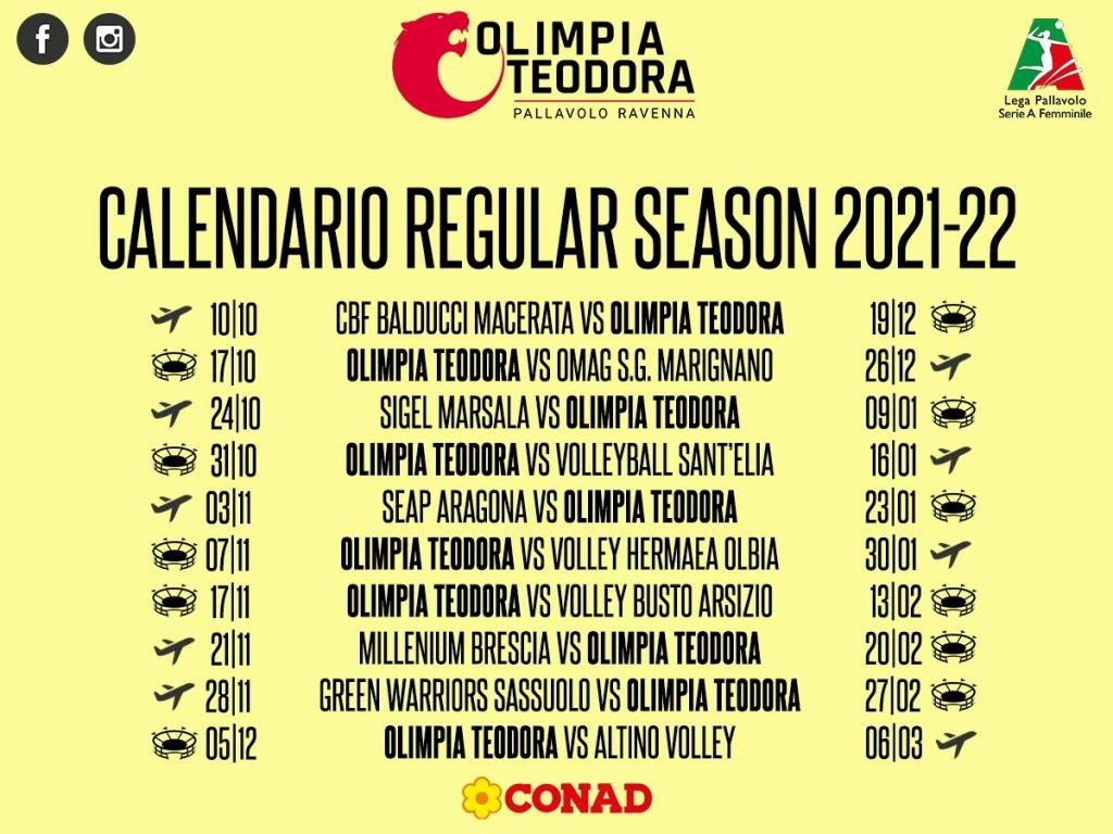 Ecco il calendario del campionato della Conad: esordio a Macerata poi derby casalingo con S.G. Marignano